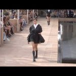 Kaia Gerber and models on the runway for the Longchamp Fashion Show in NYC